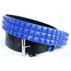 Pyramid Studded Blue Belt