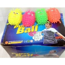 36 pcs Light Up Spike Ball assorted color great for kid