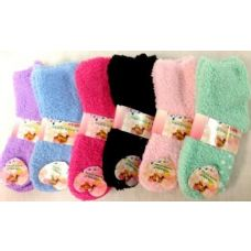 Girls Babys Fuzzy Socks size  4-6 solid colors
