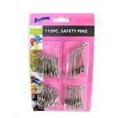 Safety Pins 110 Piece Assorted