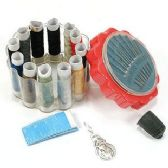 Complete Sewing Kit in Plastic Holder
