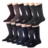 Mens 3 Pack Dress Sock Size 10-13 Assorted Color Only