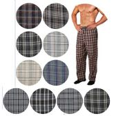 Men's Cotton Pajama Bottoms In Assorted Plaid Patterns And Assorted Sizes