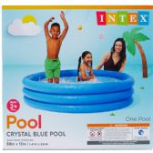 POOL THREE RING CRYSTAL BLUE