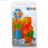 "16""X12"" TROPICAL BUDDIES SWIM VEST IN PEGABLE POLY BAG"