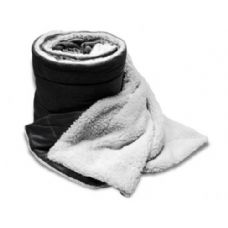 Over-Sized Micro Mink Sherpa Blankets Black Color Only