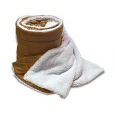 Over-Sized Micro Mink Sherpa Blankets Camel Color Only