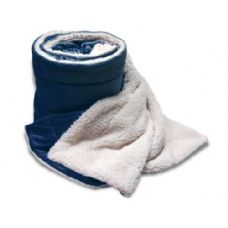 Over-Sized Micro Mink Sherpa Blankets Navy Color Only