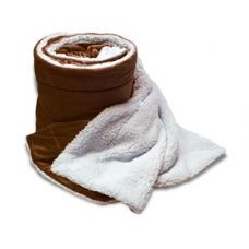 Over-Sized Micro Mink Sherpa Blankets Chocolate Color Only
