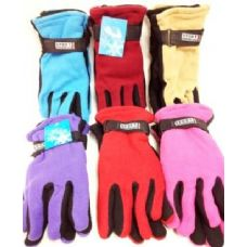 Lady's Fleece Gloves Assorted Colors