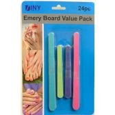 Emery Board Value Pack 24 Piece Nail Files