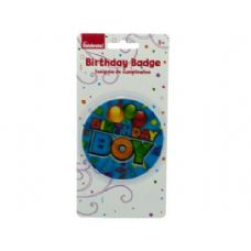 holographic boy birthday badge