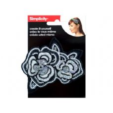 simplicity embroidered sequin flower headband accent