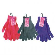 Ladies Chenille Winter Glove Assorted Colors One Size Fits All