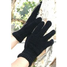 Ladies  Black Only  CHENILLE Gloves