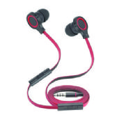 Stereo Hands Free Earpieces with Volume Control and Flat Anti-Tangle Wire