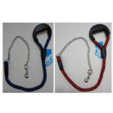"40"" Pet Leash with Gripper Handle [Rope & Chain]"