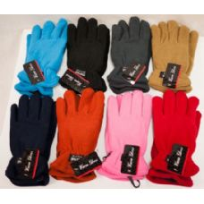 Women Fleece Gloves Thick Assorted Colors