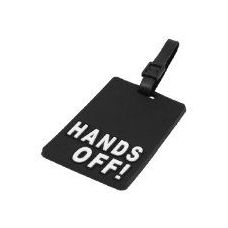 """""""HANDS OFF"""" Luggage Tag-Black color"""