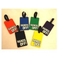 """HANDS OFF"""" Luggage Tag-Green color"""