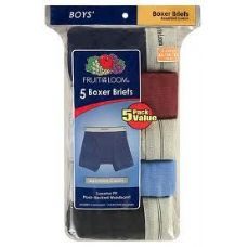 FRUIT OF THE LOOM BOY'S 5 PACK BOXER BRIEFS