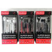 Fashion Super Bass Stereo Earbuds Headset with Microphone,Tangle Free Flat Wire