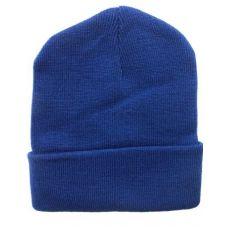 Light Navy Winter Beanie Hat 12 Inch