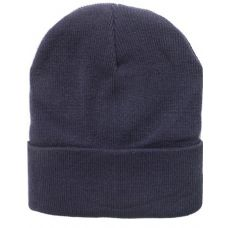 SOLID DARK GREY BEANIE HAT 12 INCH