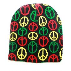 Peace Sign Winter Beanie Hat