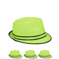 FEDORA HAT LIGHT GREEN ONE COLOR
