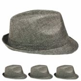 SILVER COLOR FEDORA HAT