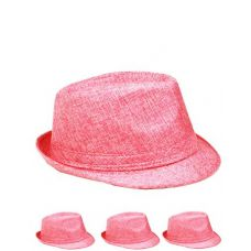 This Stylish Fedora Hat Is Unisex Comes In Solid Pink