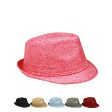 Fashion Fabric Fedora Hat (Assorted Colors)