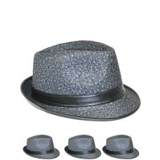 FEDORA HATS SOLID GREY ASSORTED COLORS WITH BLACK BAND