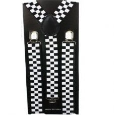 Checkered Suspender in Black and White