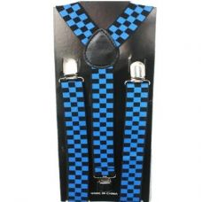 Checkered Blue and Blue Suspender