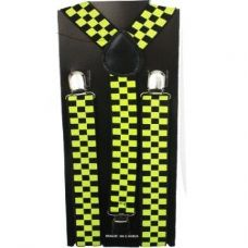 Checkered Suspender in Black and Yellow