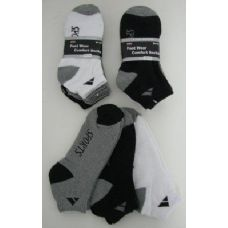 Mens SPORT Ankle Socks Assorted Colors Size 10-13