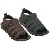 Boy's Soft Man Made Leather Upper Velcro Sandals