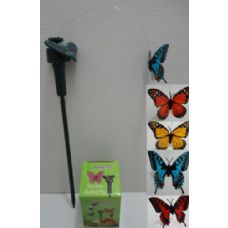 Solar Yard Stake in Assorted Colors [Butterfly]