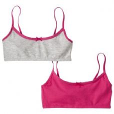2 Pack Hanes Girls Sports Bra On Hanger