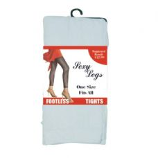 Footless Tights One Size White Only (144/cs)