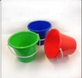 Plastic Pail With Handle 2.5 Gallon