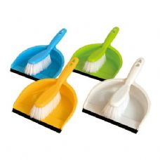Dustpan w/Brush Set (with/Rubber Edge)