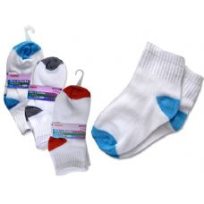 SOCKS 3 PAIR BOY'S 2-9RED+BL+GREY