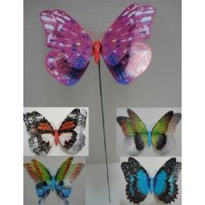 Double Wing Butterfly Yard Stake
