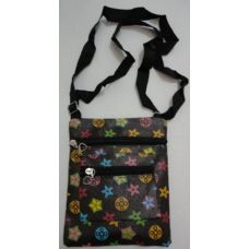 Small Cross-Body Hand Bag [Black with Prints]