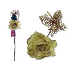 Rose Flower With Glitter & Butterfly