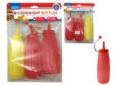 3pc Condiment Bottles Set