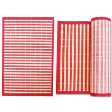 """PLACEMAT BAMBOO 17.7X11.8""""UPC. RED"""